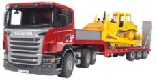 Camion Scania cu platforma joasa